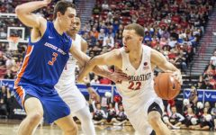 Flynn becomes first Aztec to be named John R. Wooden All-American since 1984