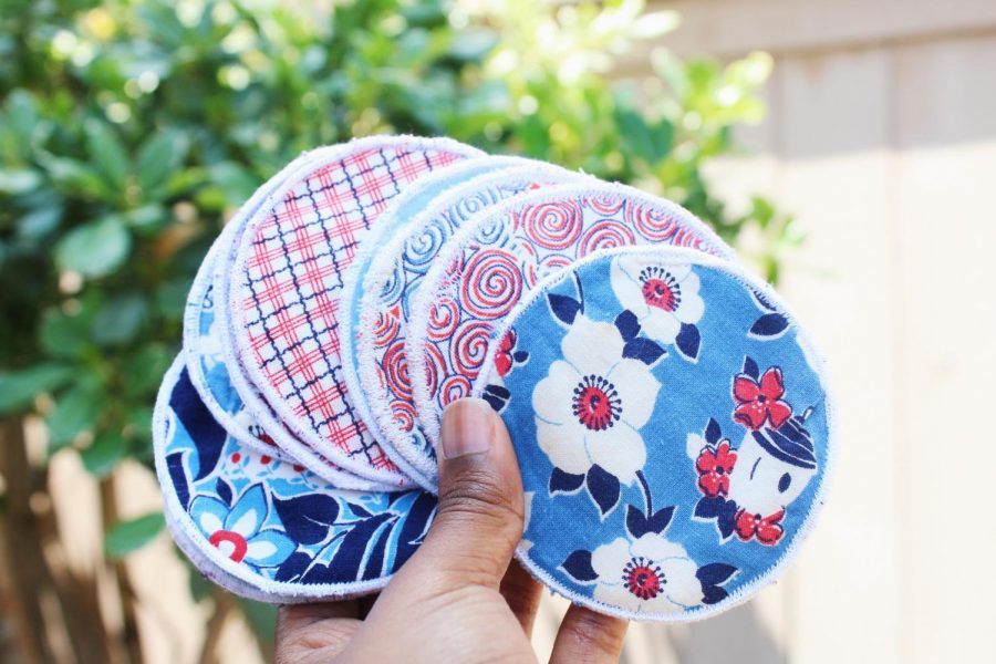 These are reusable makeup rounds you could give as gifts.
