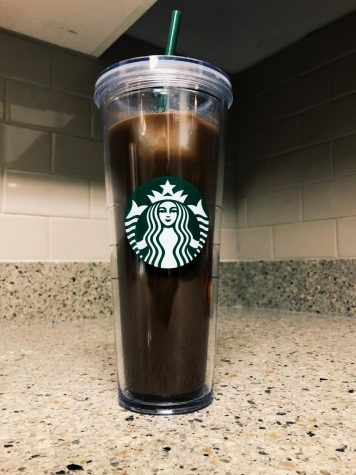 "The ""Flavored Mocha,"" featuring coffee, vegan hot cocoa powder, non-dairy milk and syrup flavoring."