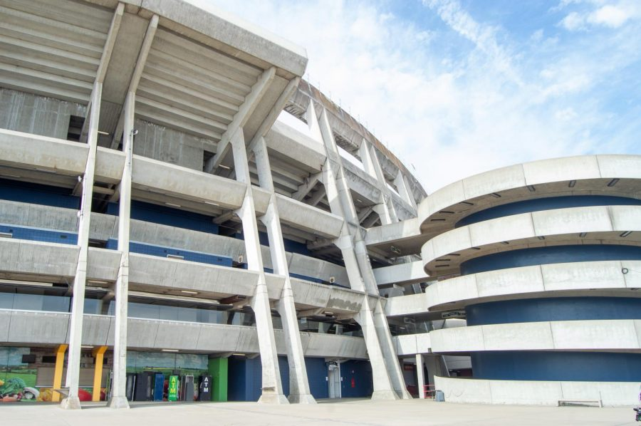 SDCCU Stadium was one of two buildings in San Diego to win a national award from the American Institute of Architects. It won for its innovative use of concrete forms.