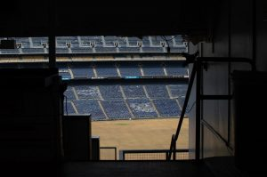The sea of empty blue seats at SDCCU Stadium is a bittersweet sight as San Diego says goodbye to 53 years or sporting, architectural and entertainment history.