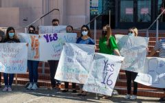 San Diego County residents rallied in support of California Propostion 16.