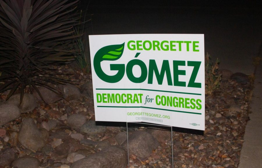 Georgette Gomez (running for CA 53) has a history of environmental activism and her campaign imagery reflects that.