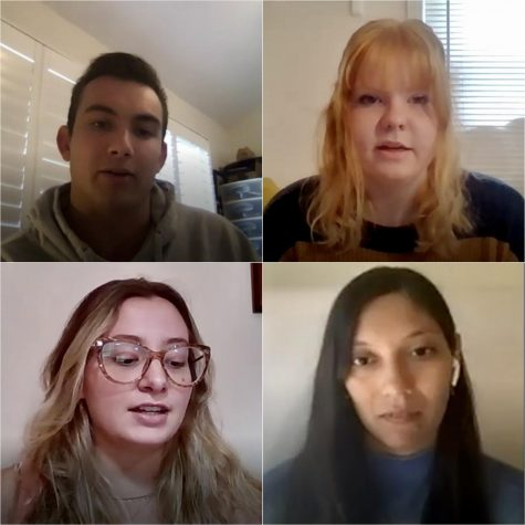 Undergraduate, graduate and international students discuss their reasons for taking a leave of absence during the Spring 2021 semester. Weston Robertson (top left), Zoe Jones (top right), Ornella Rossi (bottom left) and Jeannette Espinoza (bottom right).