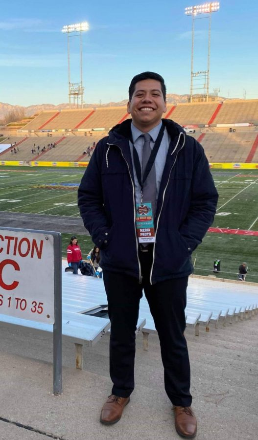 A photo of Daniel Guerrero from the 2019 New Mexico Bowl in Albuquerque.
