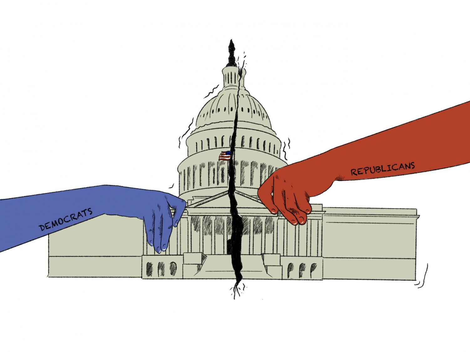 United States division sparked by both sides of the political spectrum