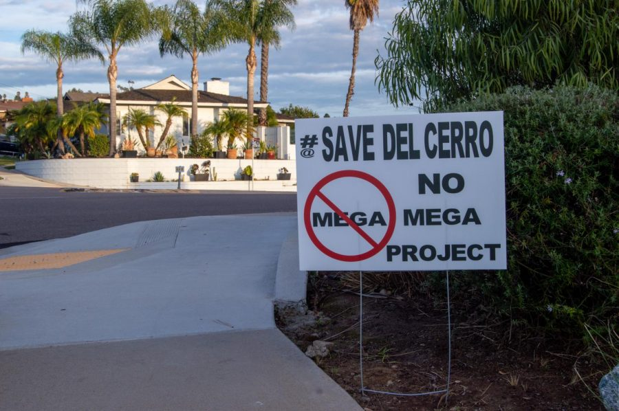 Lawn signs scattered down College Avenue and a website are just some of the indications Del Cerro residents aren't happy with a proposed mega-church development in their neighborhood.