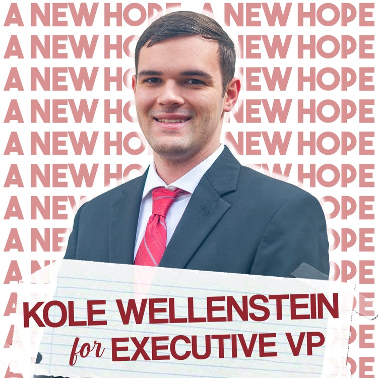 A.S. executive vice president candidate Kole Wellenstein