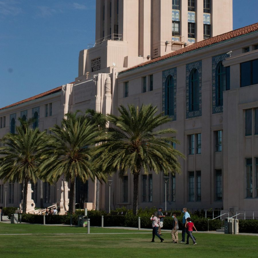 The San Diego County Administration Building on Harbor Drive.