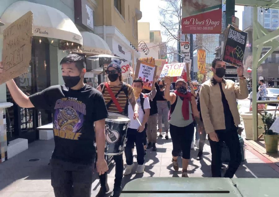 Stop Asian Hate rally in downtown San Diego held on March 20.