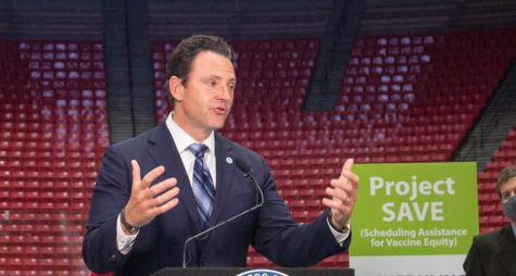 Chair of the San Diego County Board of Supervisors Nathan Fletcher announced Viejas Arena at SDSU would open as a vaccination site on March 23.