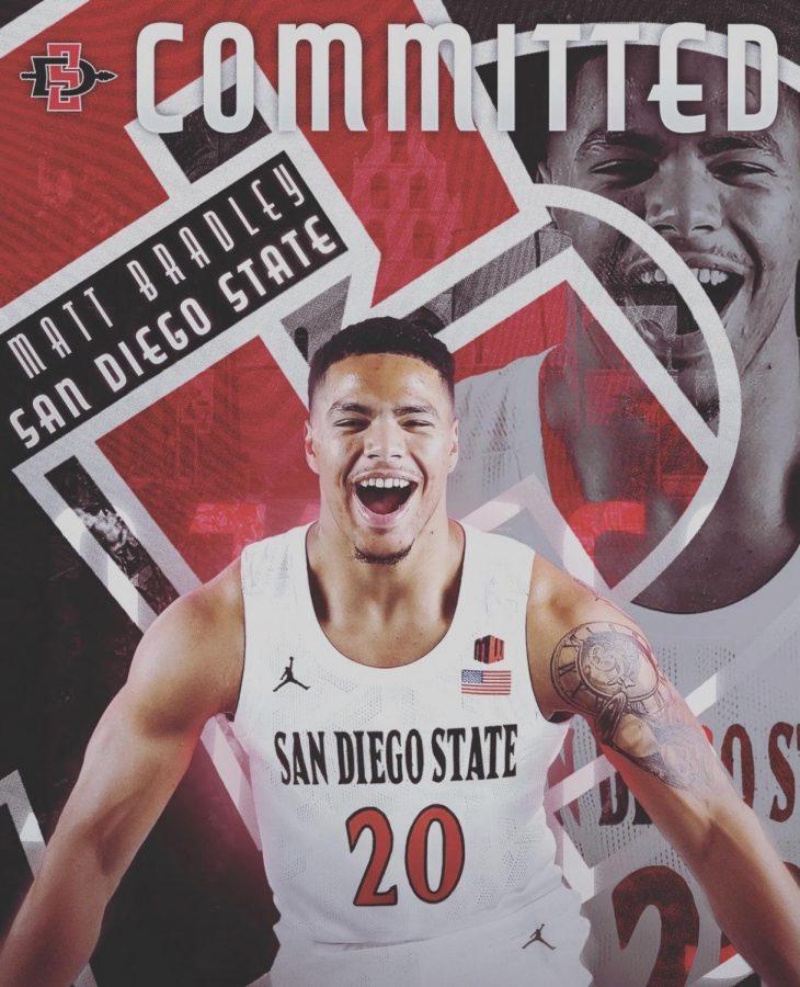Former California junior guard Matt Bradley announced his transfer to San Diego State on April 12 via Twitter.