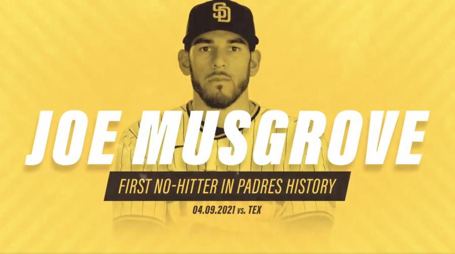 El Cajon native Joe Musgrove threw the first no-hitter in Padres franchise history on April 9, 2021 against the Texas Rangers.