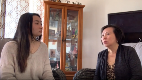 Donna Tran interviewing her mom about her immigration experience.