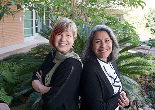 Olivia Puentes-Reynolds (right) and Sue Gonda (left)