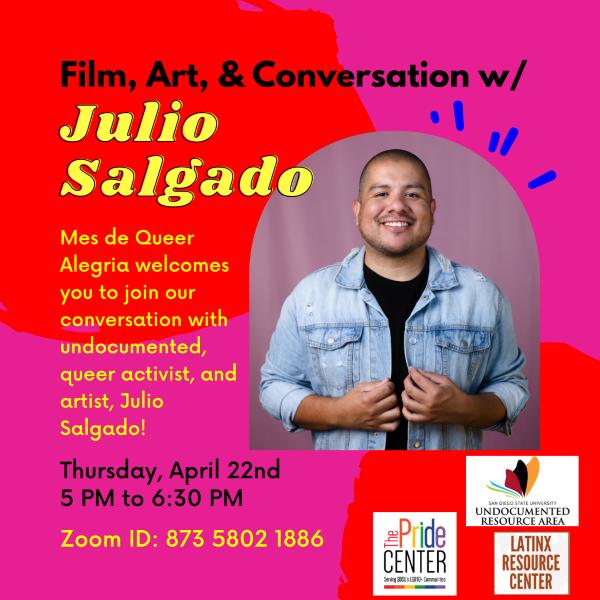 Queer activist Julio Salgado speaks at SDSU Pride Center event