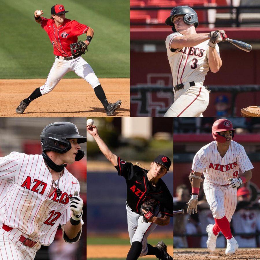 Five Aztec baseball players chosen in Major League Baseball's amateur draft