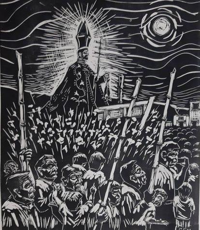 Esta obra por el peruano Gerardo Salazar Malbaza representa la comunidad peruana y su cultura.