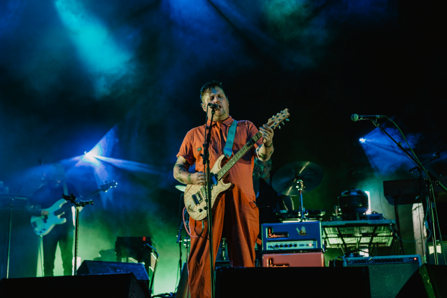 Modest+Mouse+lead+singer+Isaac+Brock+performing+The+World+At+Large+to+open+their+set.