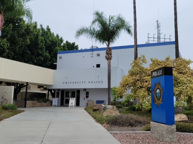 University police station located next to campus.
