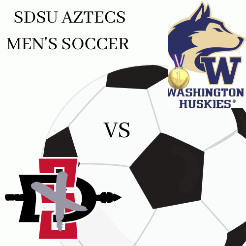 Los aztecas perdieron el partido conta la Universidad de Washington en Seattle en el estado de Washington.