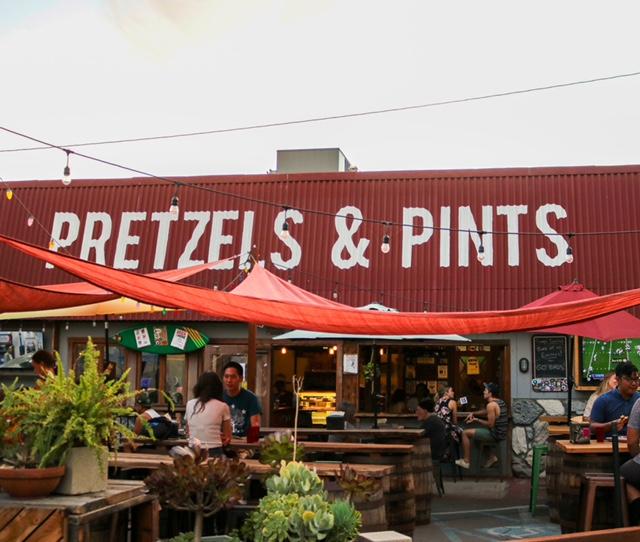 Pretzels & Pints has an outdoor patio.