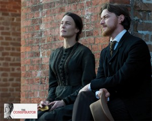 Robin Wright and James McAvoy are bright spots in a film that is a suspenseful but also feels imperfect. Courtesy of The American Film Company