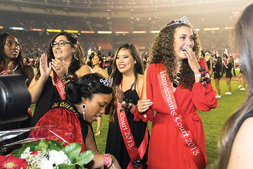 Aztecs receive crown at homecoming