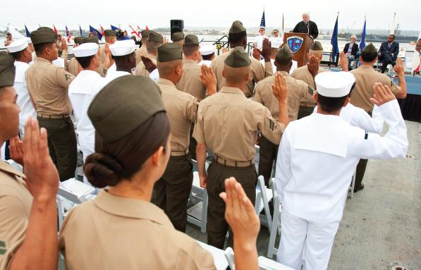 Service members naturalized