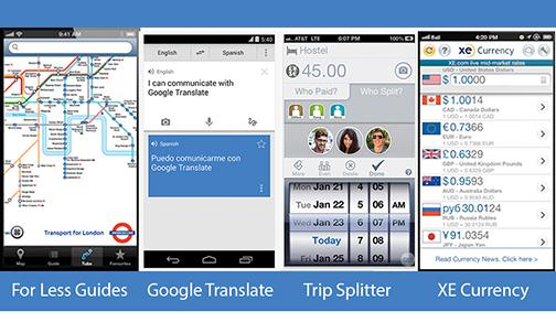 The must-have apps for traveling