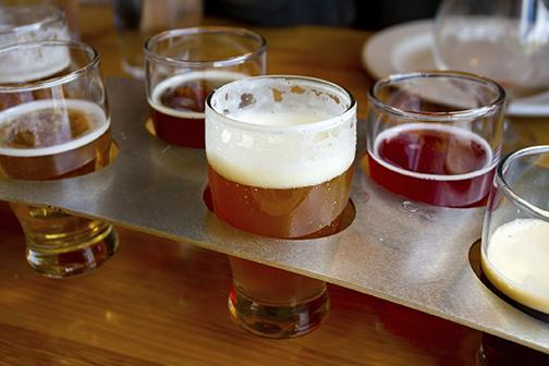 Beer sampling platter