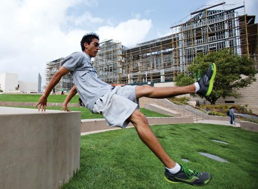 Student finds solace in free-running parkour
