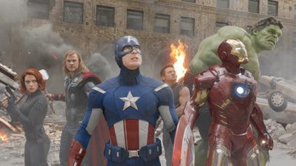 The Avengers, from the left: Black Widow (Scarlett Johansson), Thor (Chris Hemsworth), Captain American (Chris Evans), Hawkeye (Jeremy Renner), Iron Man (Robert Downey, Jr.) and the Hulk (Mark Ruffalo).   Courtesy of Zade Rosenthal