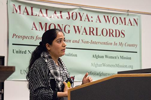 Afghan activist pays Aztecs a visit