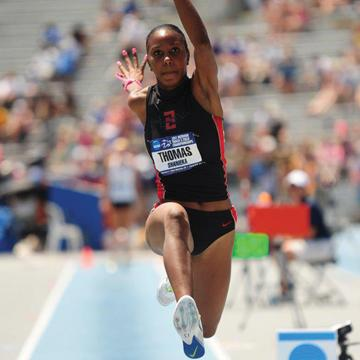 Shanieka Thomas in the triple jump