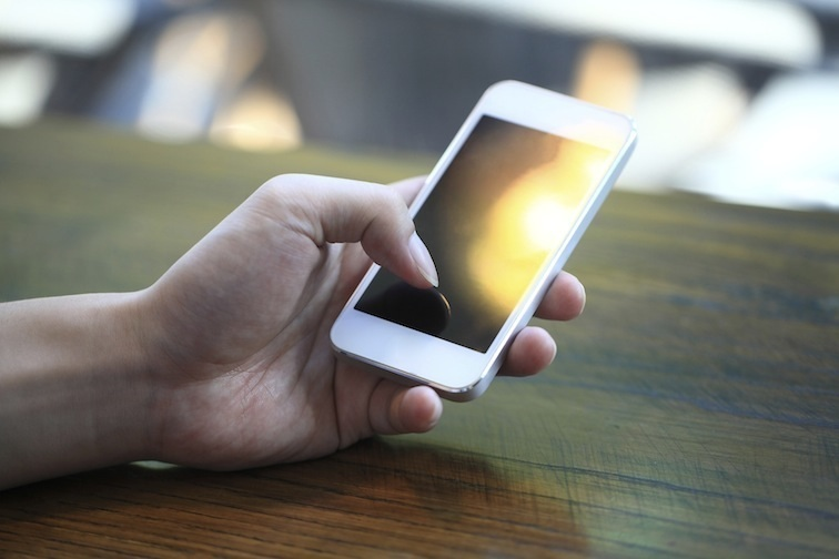 Touching Smart Phone