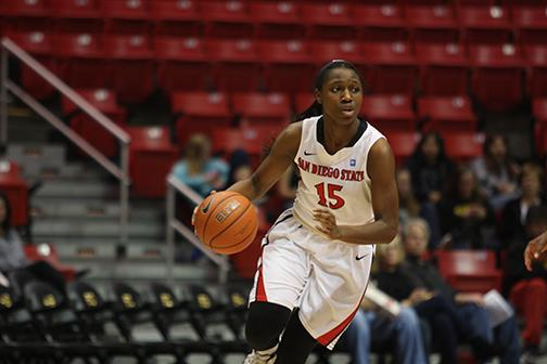 SDSU freshman point guard McKynzie Fort and the Aztecs lost at Boise State Saturday