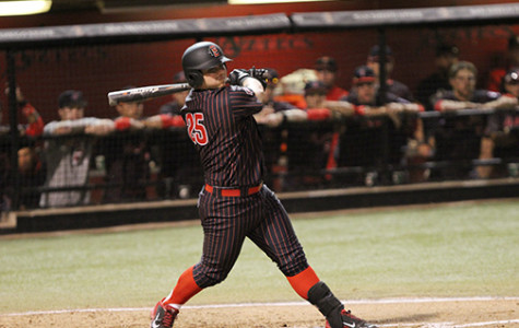 SDSU Baseball infielder Ty France batting