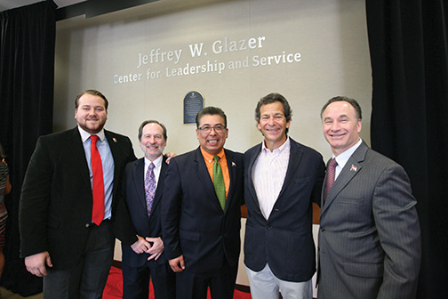 Leadership center renamed The Jeffrey W. Glazer Center