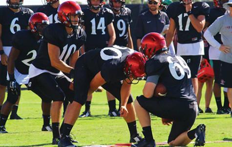 #AztecFB camp report: SDSU quarterback battle is 2-man show