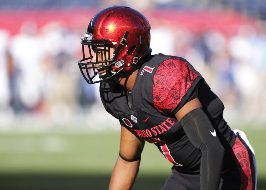 SDSU footballs J.J. Whittaker providing security on and off the field