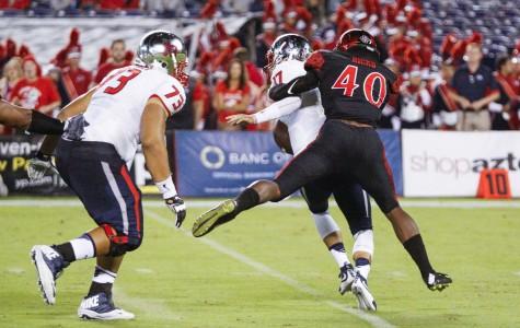 SDSU football uses ground and pound to defeat Hawaii 28-14
