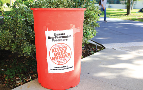 Aztecs Rock Hunger food drive kicks into gear