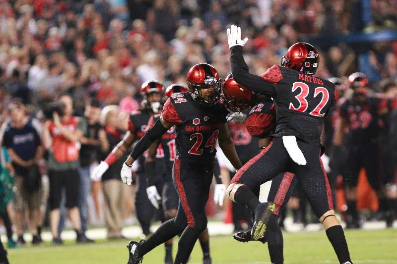 Aztec football crushes Utah State 48-14 for statement win
