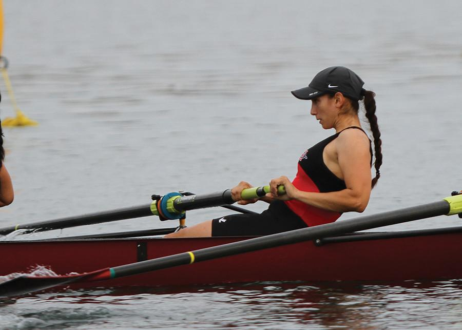 SDSU+rower+Megan+Stone+enjoys+the+busy+life
