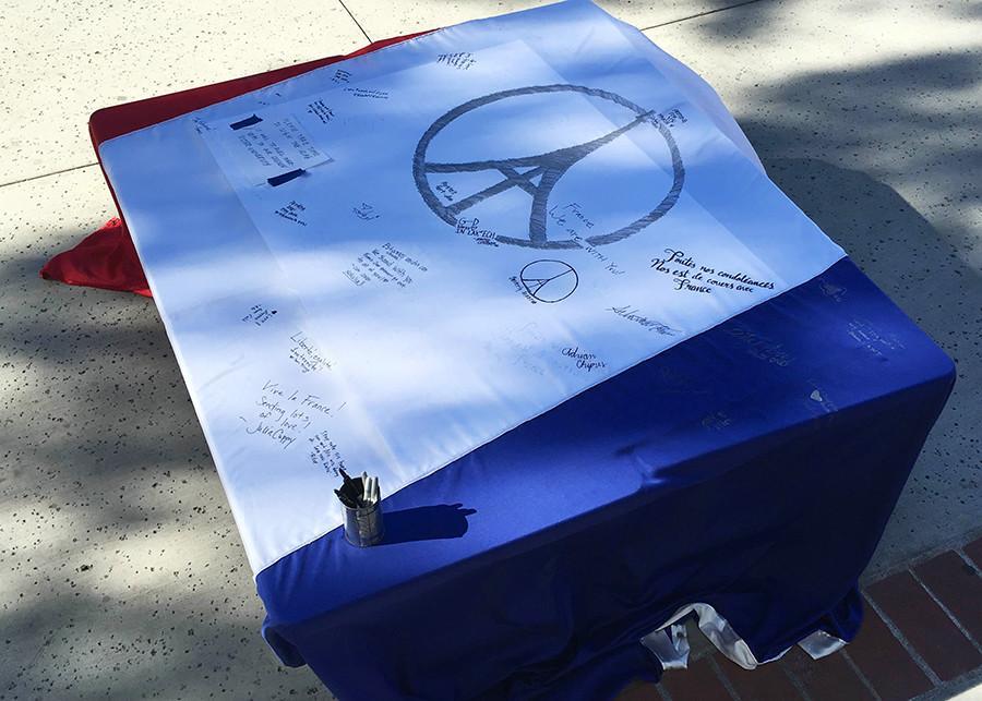 SDSU gifts flag to France as symbol of solidarity