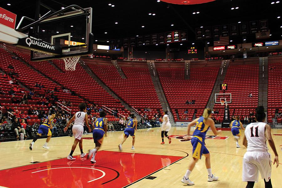 SDSU Women's basketball looks to part with the 'red sea'