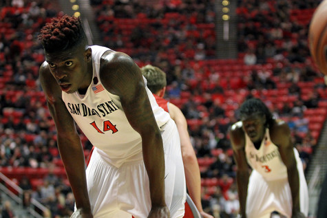 No. 2 Kansas too much to handle for SDSU men