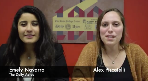 VIDEO: The Daily Aztec Newscast with Alex and Emely 2/17/2016