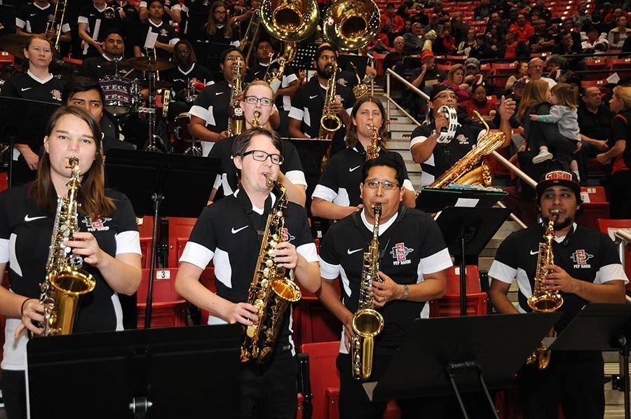 Pep band pumps up the SDSU spirit